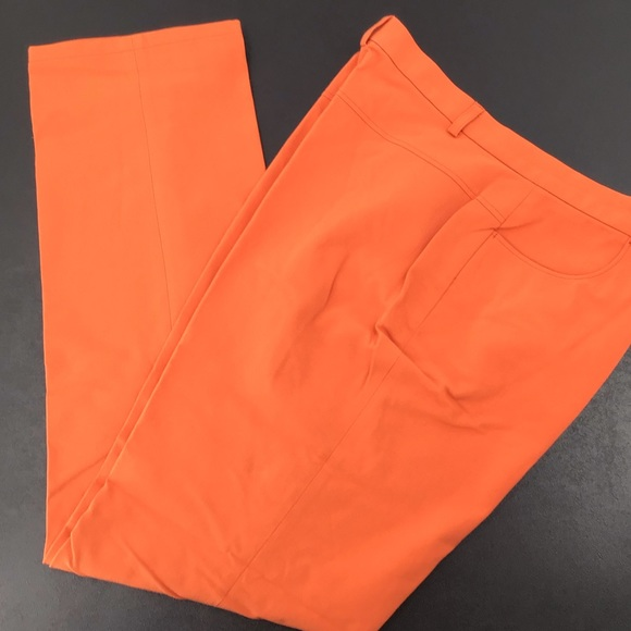 Escada orange pants size 14 (44)
